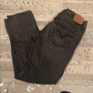Levi's Straight Black Jeans